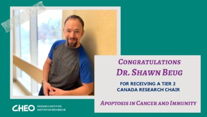 Dr. Shawn Beug awarded Tier 2 Canada Research Chair